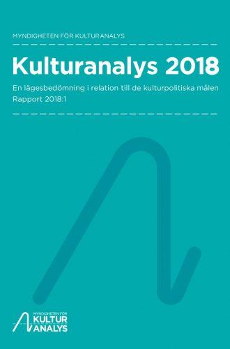 Omslagsbild Kulturanalys 2018