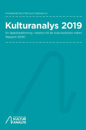 Omslagsbild Kulturanalys 2019