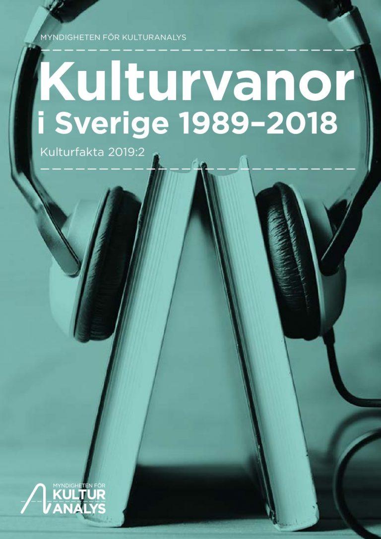 Omslagsbild Kulturvanor i Sverige 1989-2018
