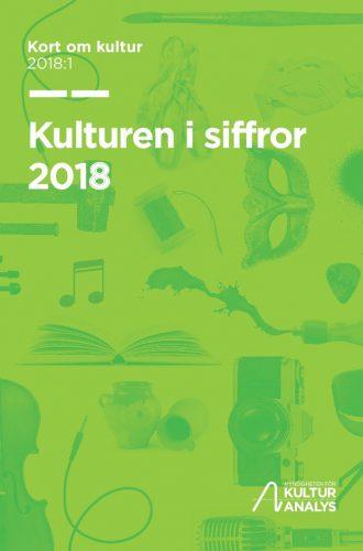 Omslagsbild Kulturen i siffror 2018
