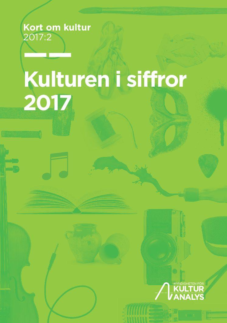Omslagsbild Kulturen i siffror 2017