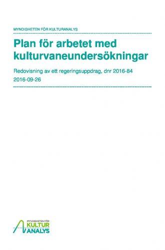 Omslagsbild Plan för arbetet med kulturvaneundersökningar