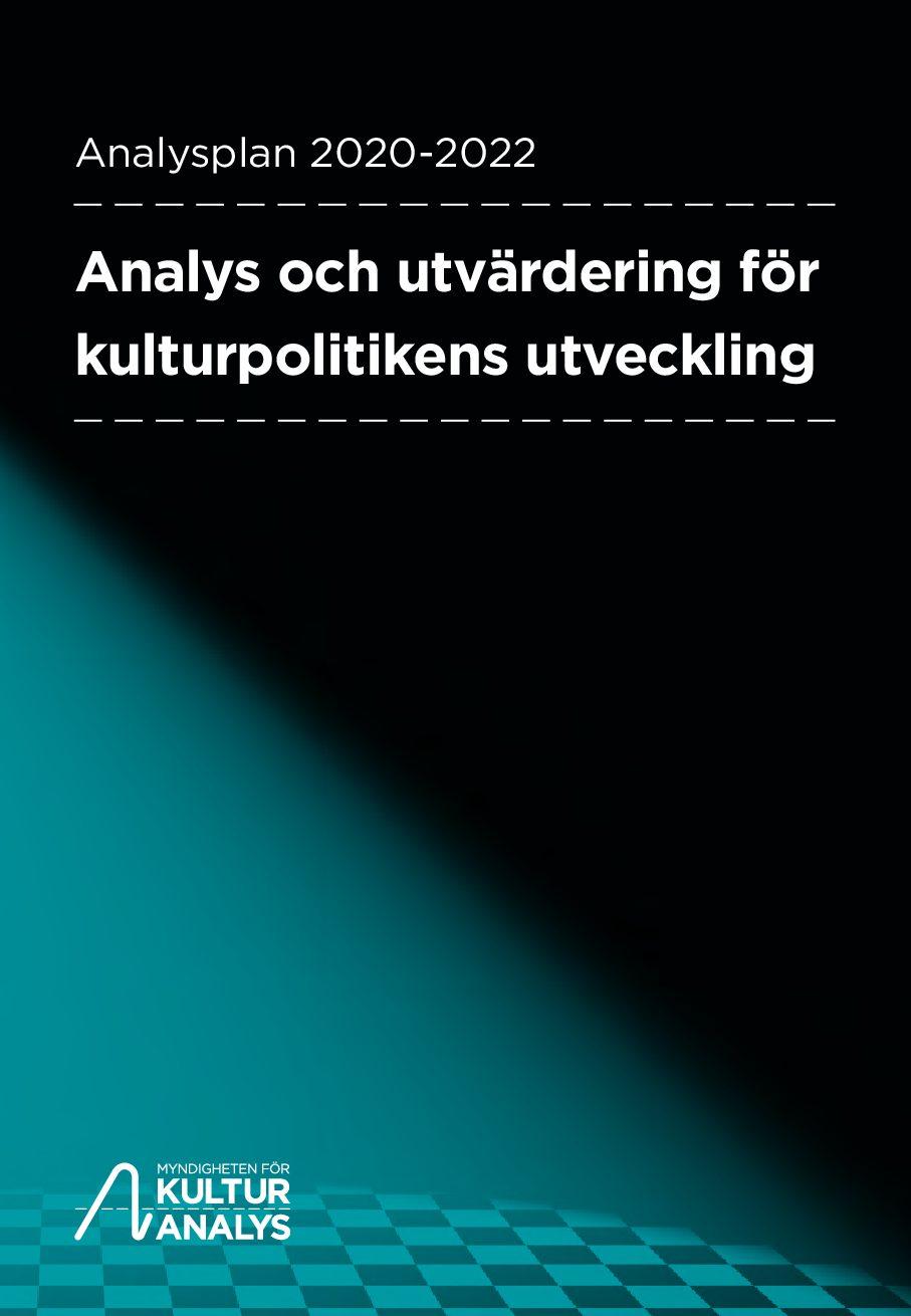 Omslagsbild Kulturanalys Analysplan