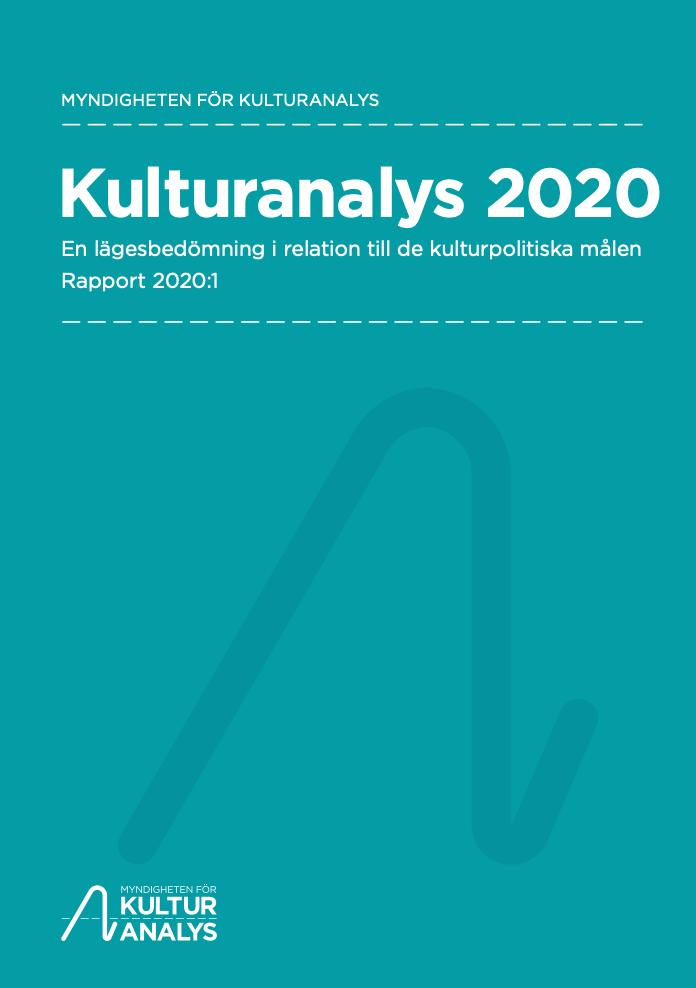 Omslagsbild Kulturanalys 2020