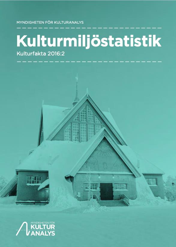 Omslagsbild Kulturmiljöstatistik 2016