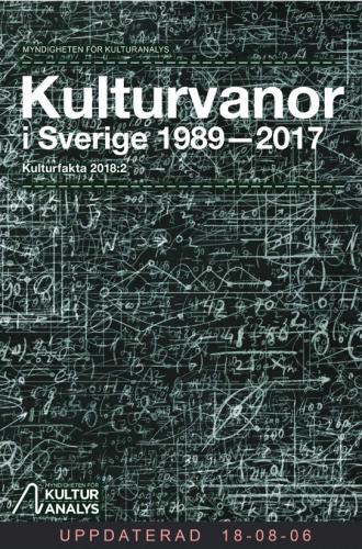 Omslagsbild Kulturvanor i Sverige 1989-2017